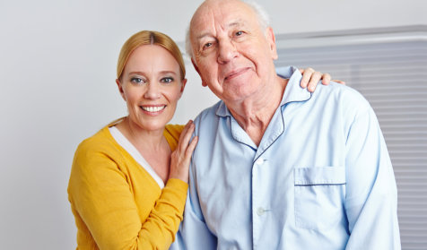caregiver and her elderly patient